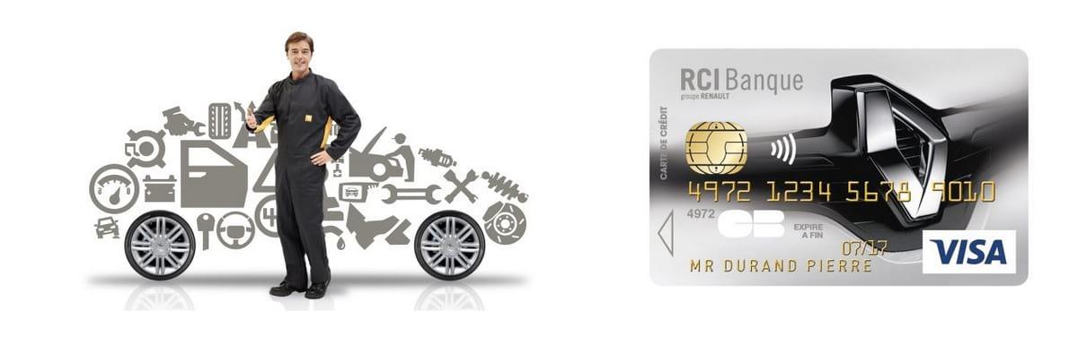 Carte bleue Renault Visa